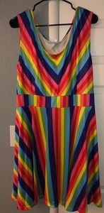 Dresses & Skirts - RAINBOW BRIGHT Sleeveless Summer Dress Sz- 3xl